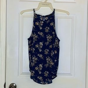 3/$35 Navy Blue Floral Blouse